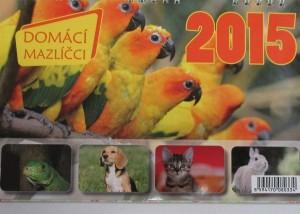 stolni kalendar 2015 - domaci mazlicci