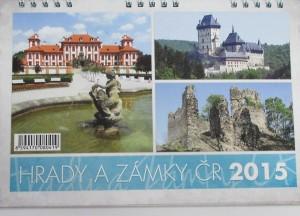 stolni kalendar 2015 - hrady a zamky
