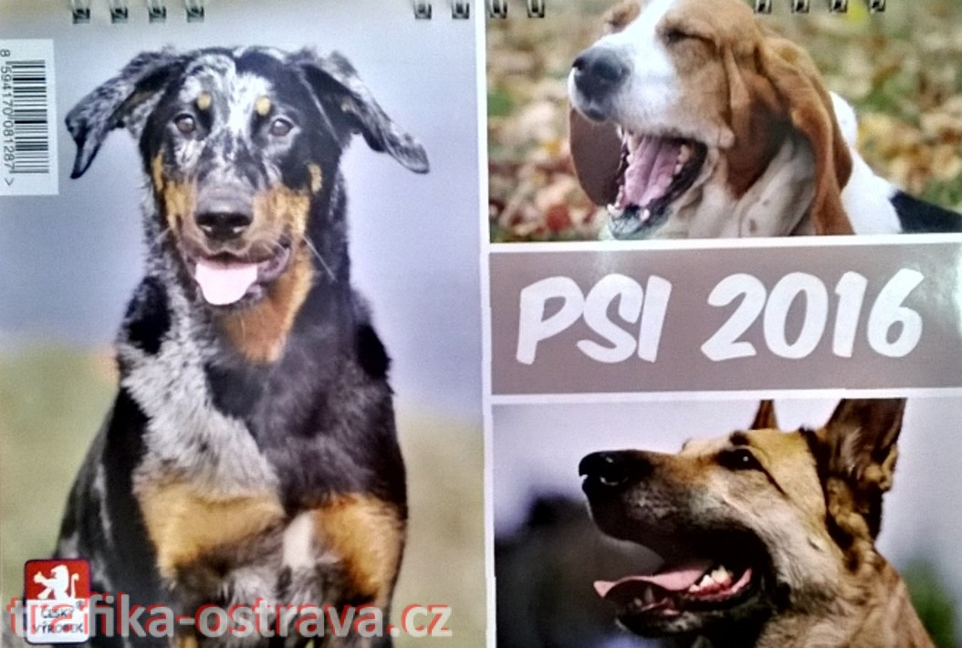 kalendář - psi - 2016