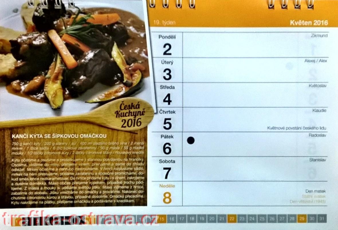 kalendář - recepty