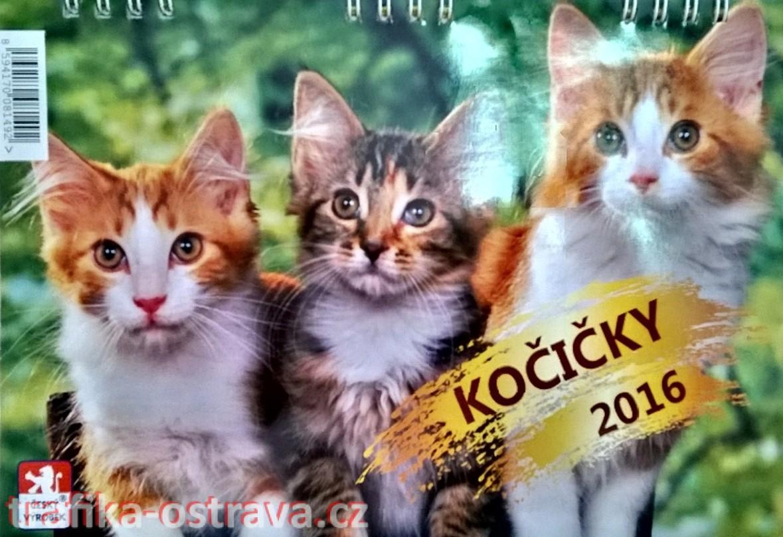 stolní kalendář - kočičky 2016